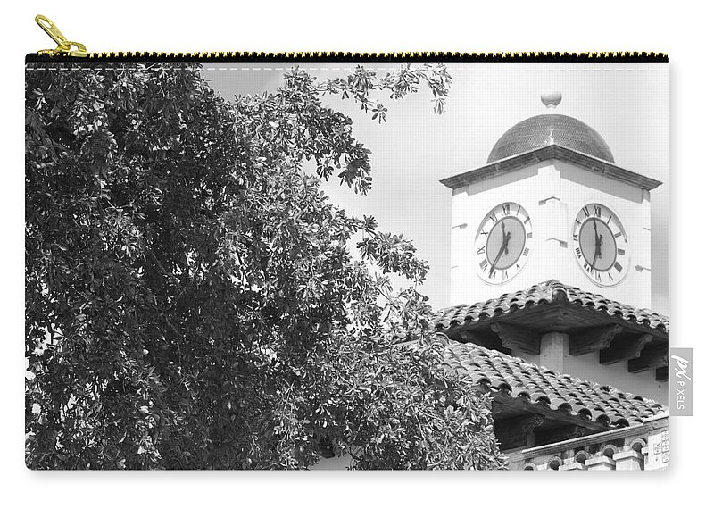 Clock Carry-all Pouch featuring the photograph Clock Tower by Rob Hans