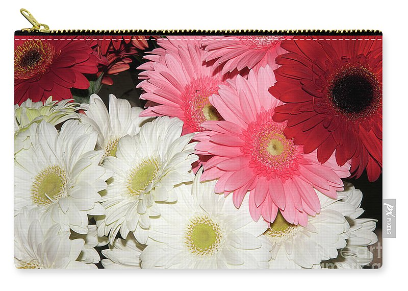 Flowers Carry-all Pouch featuring the photograph Colorful Gerber by Elvira Ladocki