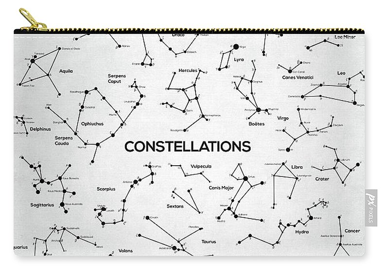 Constellation Carry-all Pouch featuring the digital art Constellations by Zapista