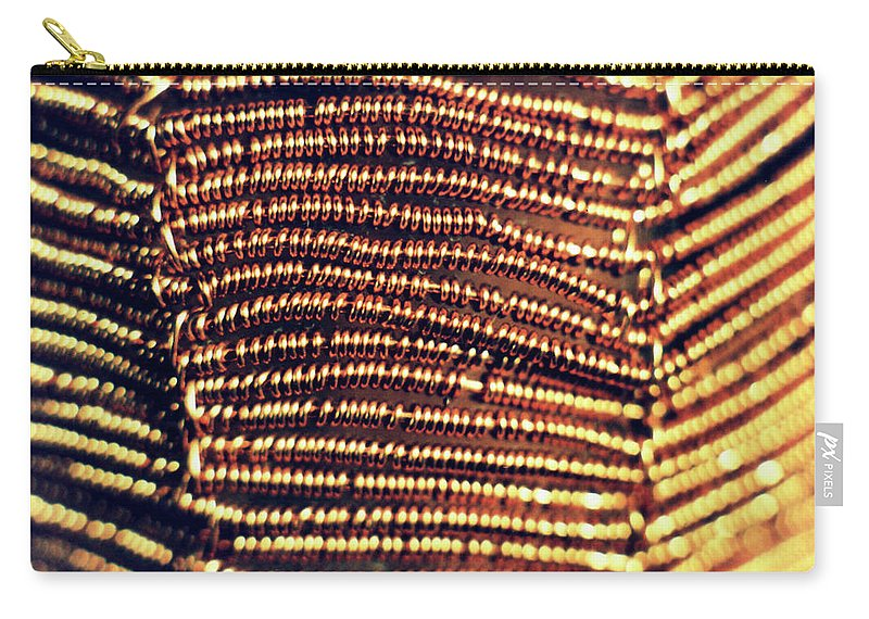 Copper Wirework Carry-all Pouch featuring the photograph Copper Wirework by Catt Kyriacou