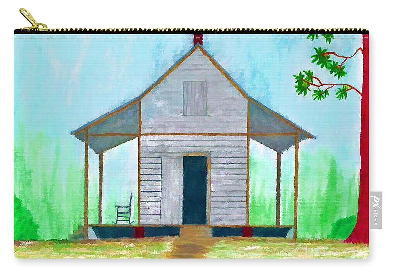 Illustration Carry-all Pouch featuring the drawing Cracker Cabin Drawing by D Hackett