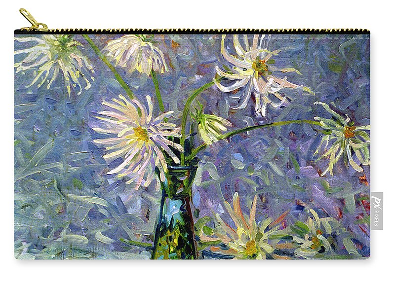 Dahlias Carry-all Pouch featuring the painting Dahlias by Donald Maier