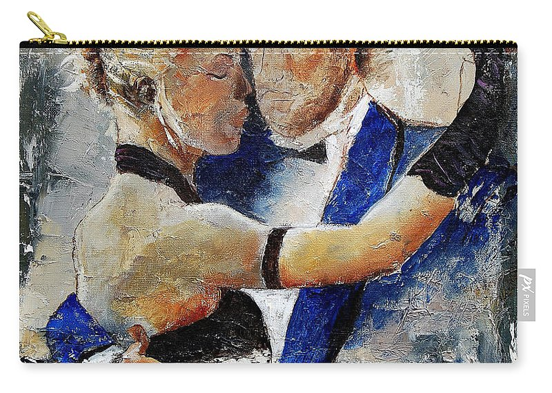 Dance Carry-all Pouch featuring the painting Dancing tango by Pol Ledent