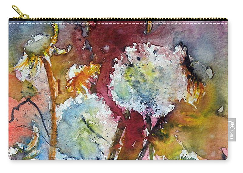 Dandelion Carry-all Pouch featuring the painting Dandelion by Kovacs Anna Brigitta