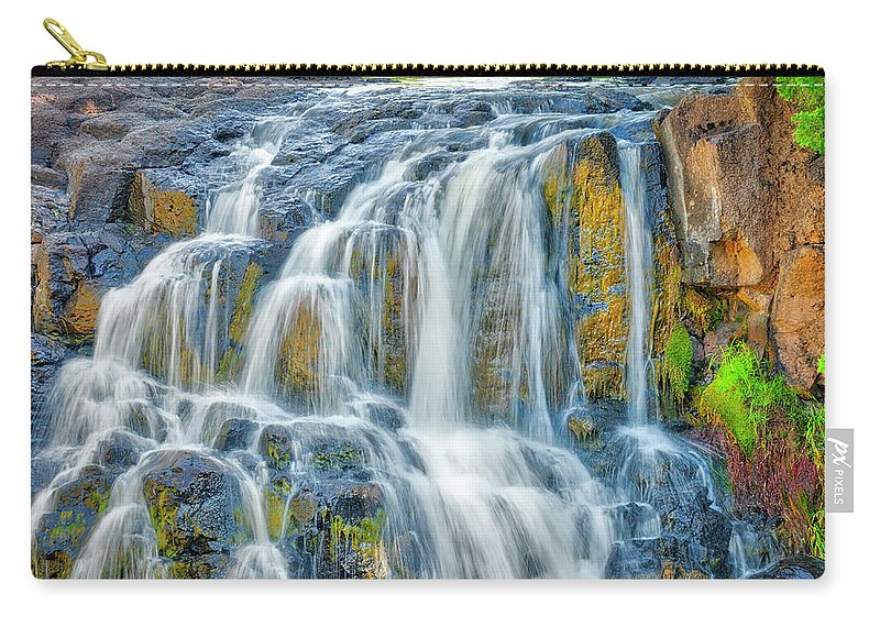Americas Carry-all Pouch featuring the photograph Early Morning At The Upper Falls by Roderick Bley