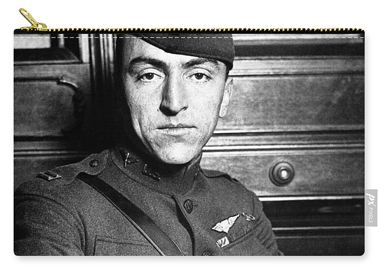 Eddie Rickenbacker Carry-all Pouch featuring the photograph Eddie Rickenbacker by War Is Hell Store