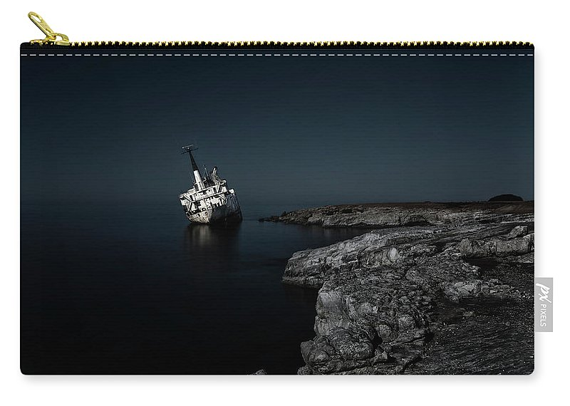 Edro Iii Carry-all Pouch featuring the photograph Edro IIi Shipwreck - Cyprus by Joana Kruse
