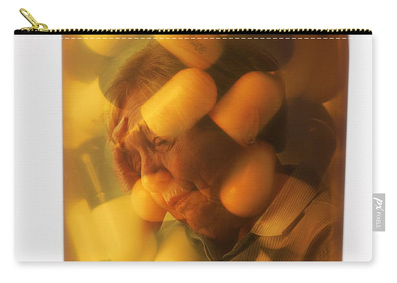 Concept Carry-all Pouch featuring the photograph Elderly Drug Use by George Mattei