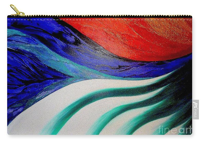 Energy Carry-all Pouch featuring the painting Energy by Kumiko Mayer