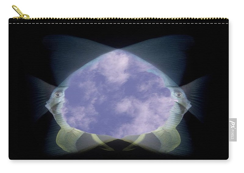 Fish Carry-all Pouch featuring the photograph 2 Faced Fishy by Tim Allen