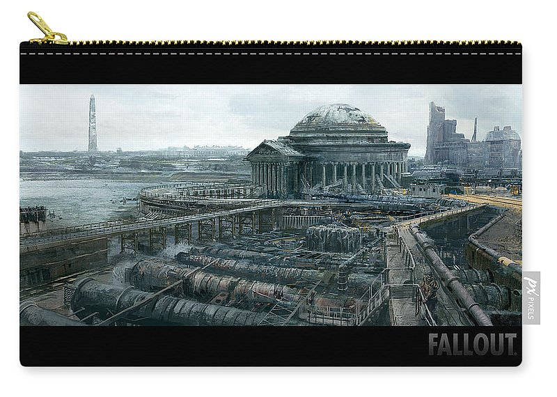 Fallout Carry-all Pouch featuring the digital art Fallout by Mery Moon