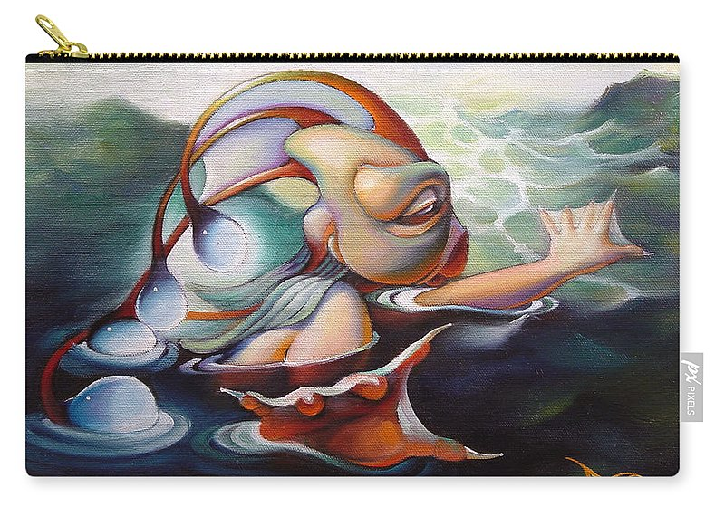 Mermaid Carry-all Pouch featuring the painting Finnegan Gilwicker by Patrick Anthony Pierson