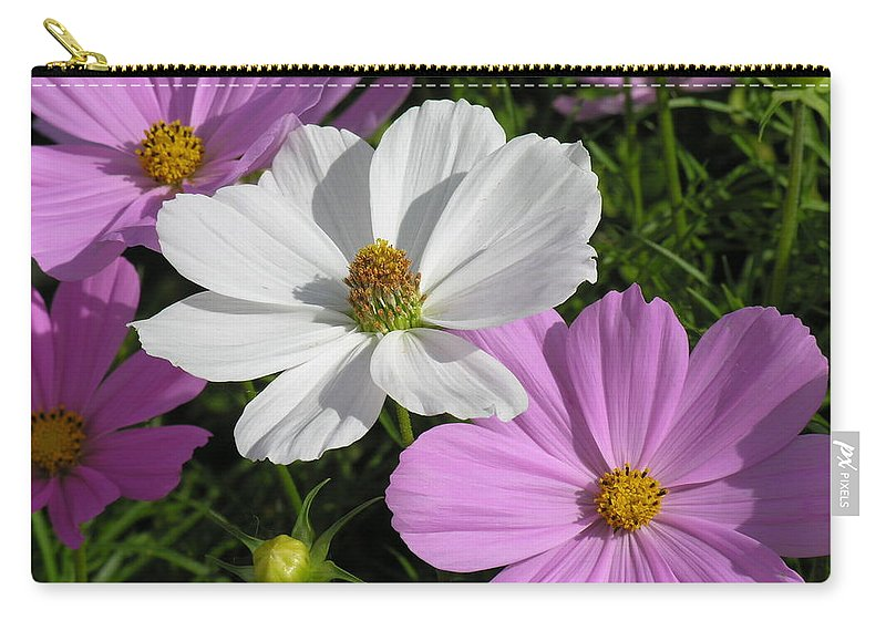 White Carry-all Pouch featuring the photograph Flowers by Diane Greco-Lesser