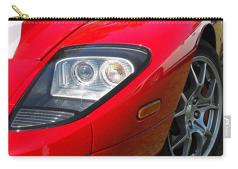 Ford Carry-all Pouch featuring the photograph Ford Gt by Neil Zimmerman