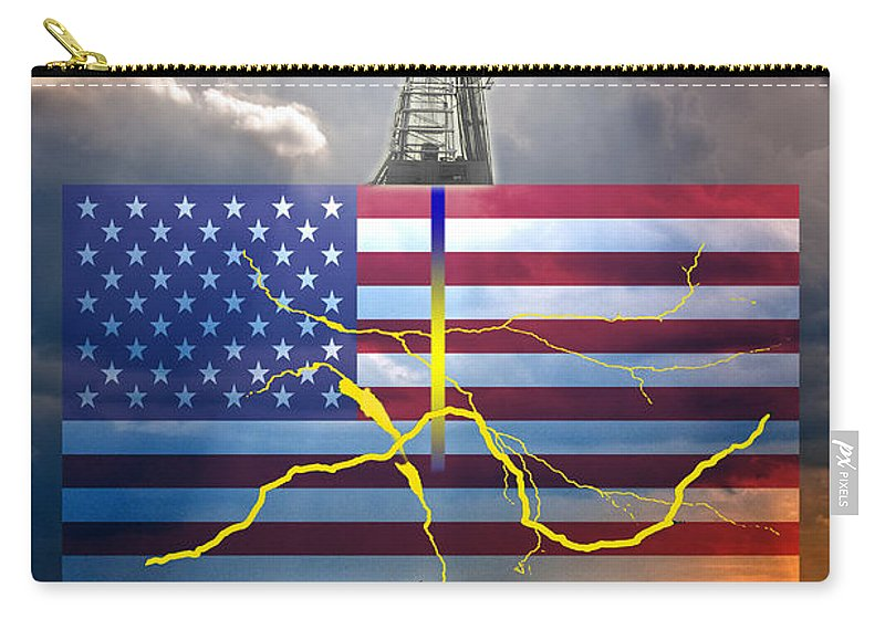 Induced Hydraulic Fracturing Carry-all Pouch featuring the photograph Fracking In The U.s by George Mattei