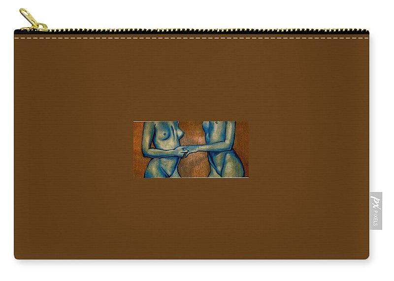 Nudes Carry-all Pouch featuring the painting Friends by Thomas Valentine