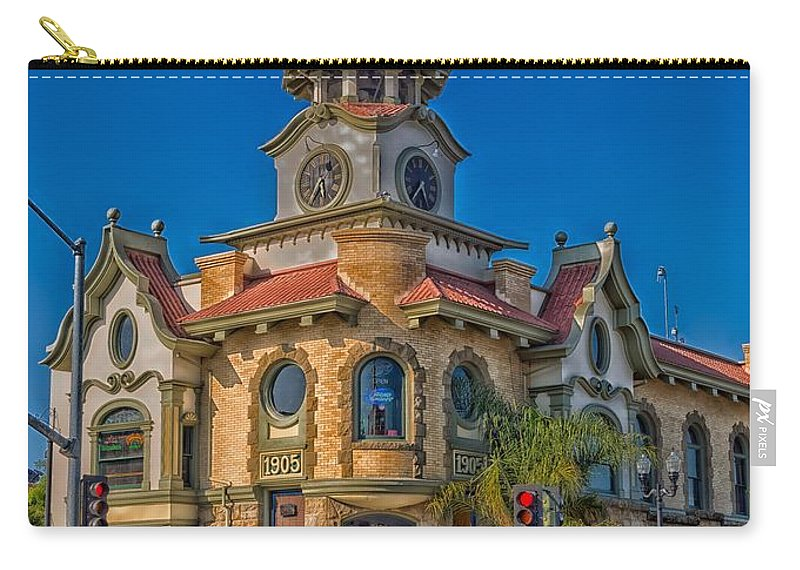 Gilroy Carry-all Pouch featuring the photograph Gilroy's Old City Hall by Mountain Dreams