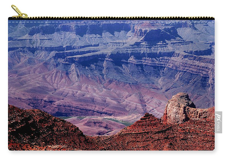 Grand Canyon Carry-all Pouch featuring the photograph Grand Canyon View by Susanne Van Hulst