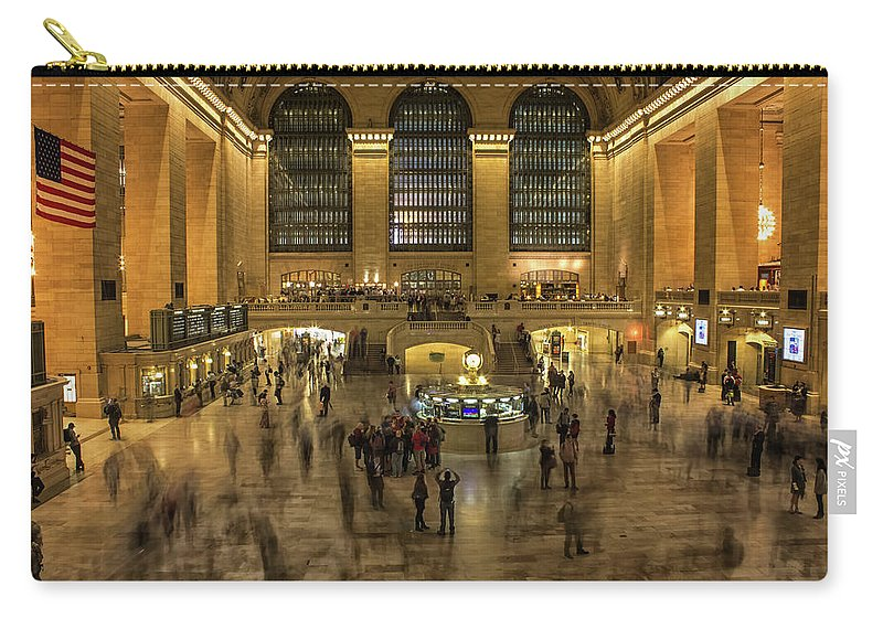 Travel Carry-all Pouch featuring the photograph Grand Central Station by Martin Newman