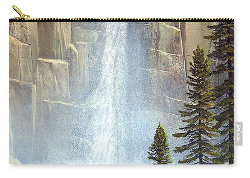 Great Falls Carry-all Pouch featuring the painting Great Falls by Frank Wilson