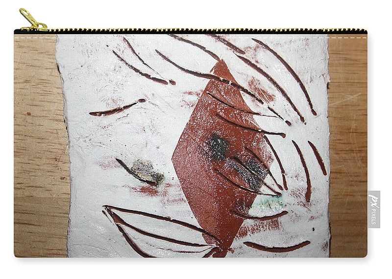 Jesus Carry-all Pouch featuring the ceramic art Green - Tile by Gloria Ssali