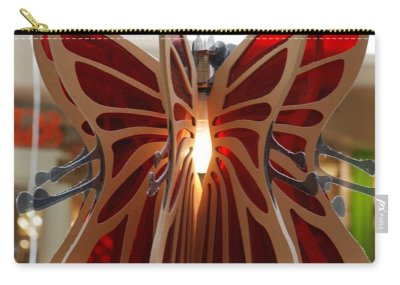 Butterfly Carry-all Pouch featuring the photograph Hanging Butterfly by Rob Hans