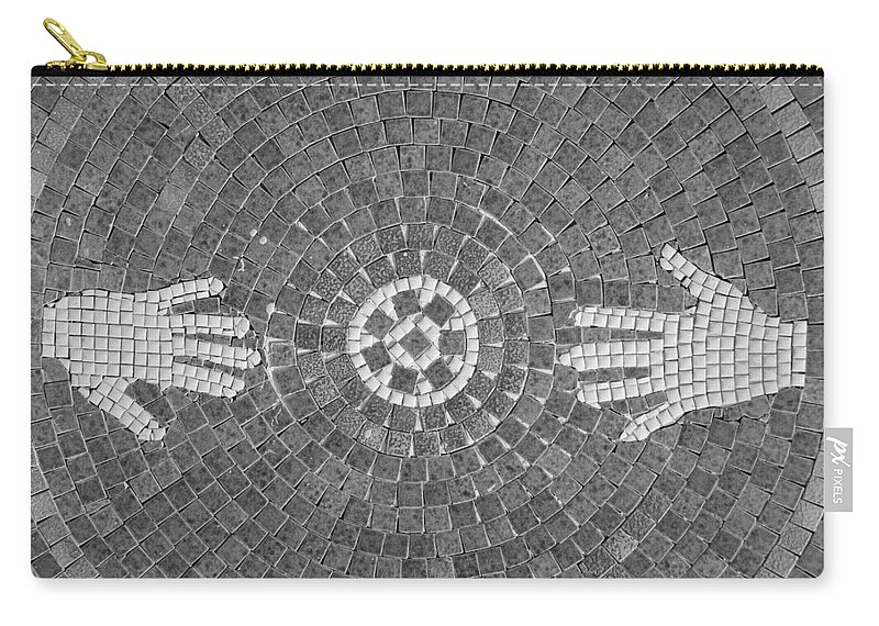 Black And White Carry-all Pouch featuring the photograph Hans Mosaic by Rob Hans