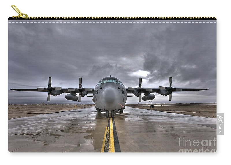 Air Force Carry-all Pouch featuring the photograph High Dynamic Range Image Of A U.s. Air by Terry Moore