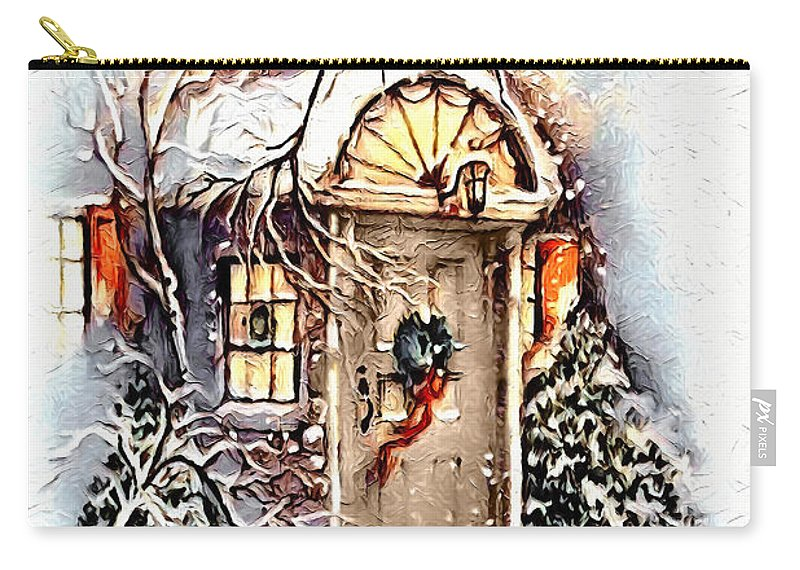 Home Carry-all Pouch featuring the digital art Home For Christmas by Pennie McCracken