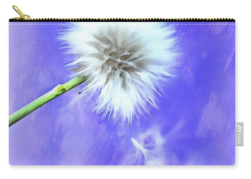 Dandelion Carry-all Pouch featuring the photograph Hopeful by Krissy Katsimbras