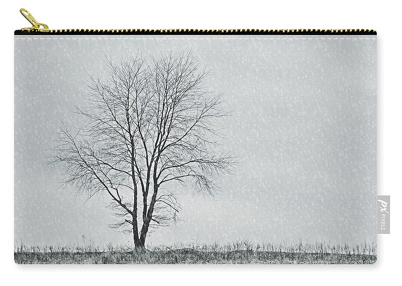 Tree Carry-all Pouch featuring the photograph Horizon In February by JAMART Photography