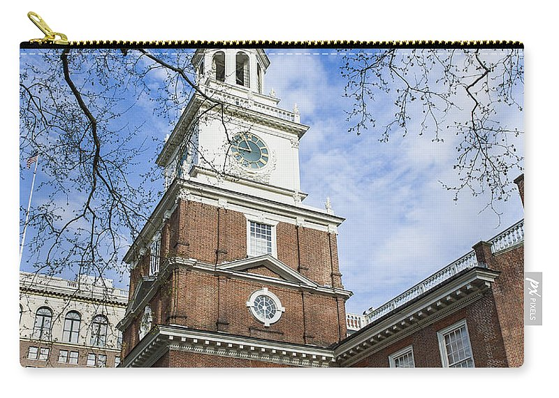 American Carry-all Pouch featuring the photograph Independence Hall by John Greim