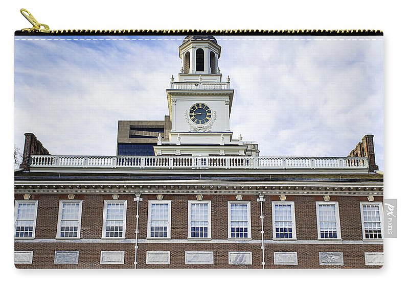 American Carry-all Pouch featuring the photograph Independence Hall Philadelphia by John Greim