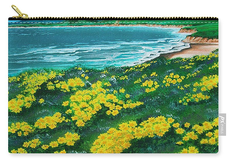 Jalama Carry-all Pouch featuring the painting Jalama Beach by Angie Hamlin