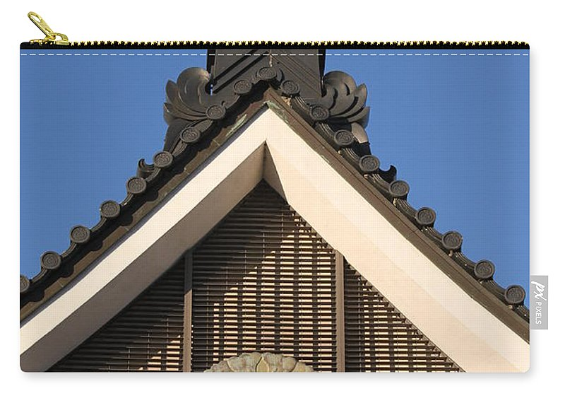 Japan Carry-all Pouch featuring the photograph Japanese Rooftop by Henrik Lehnerer