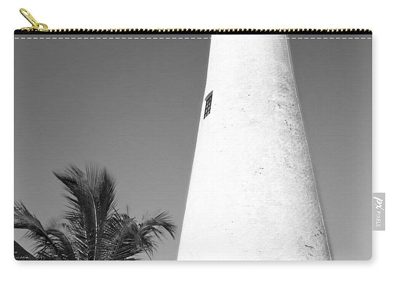 Beacon Carry-all Pouch featuring the photograph Key Biscayne Lighthouse by Rudy Umans