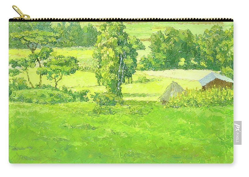 Landscape Carry-all Pouch featuring the painting Landscape 2 by Yoseph Abate