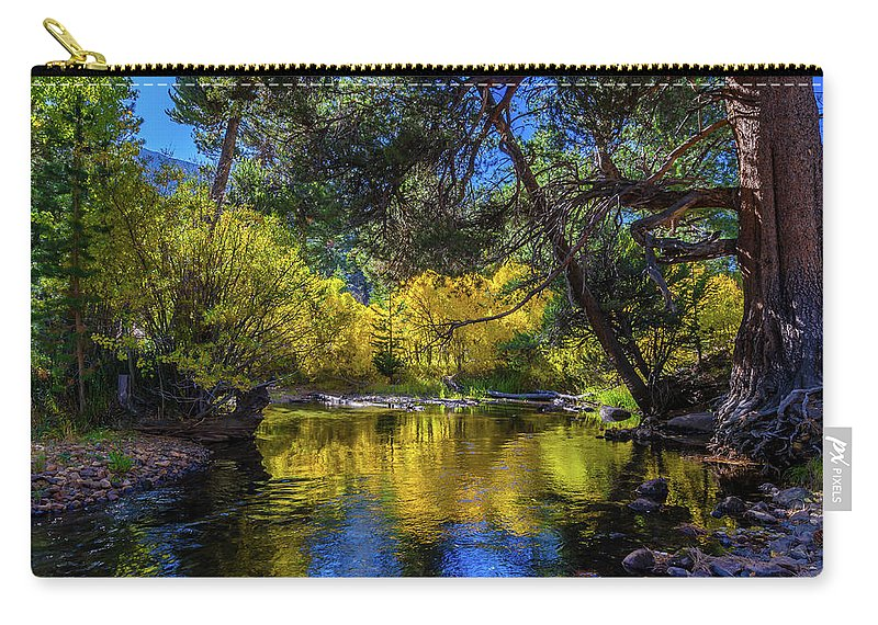 Landscape Carry-all Pouch featuring the photograph Lee Vining Creek by Javier Flores
