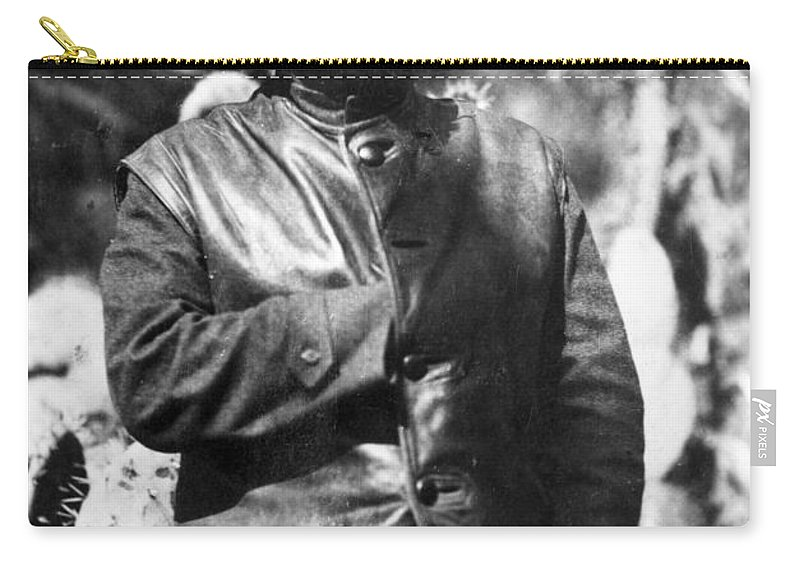 1930s Carry-all Pouch featuring the photograph Leon Trotsky (1879-1940) by Granger
