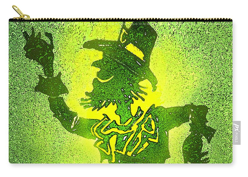 Leprechaun Carry-all Pouch featuring the painting Leprechaun by Kevin Middleton