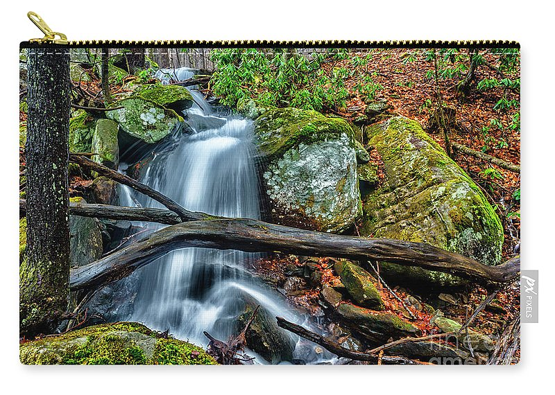 Little Laurel Branch Carry-all Pouch featuring the photograph Little Laurel Branch by Thomas R Fletcher