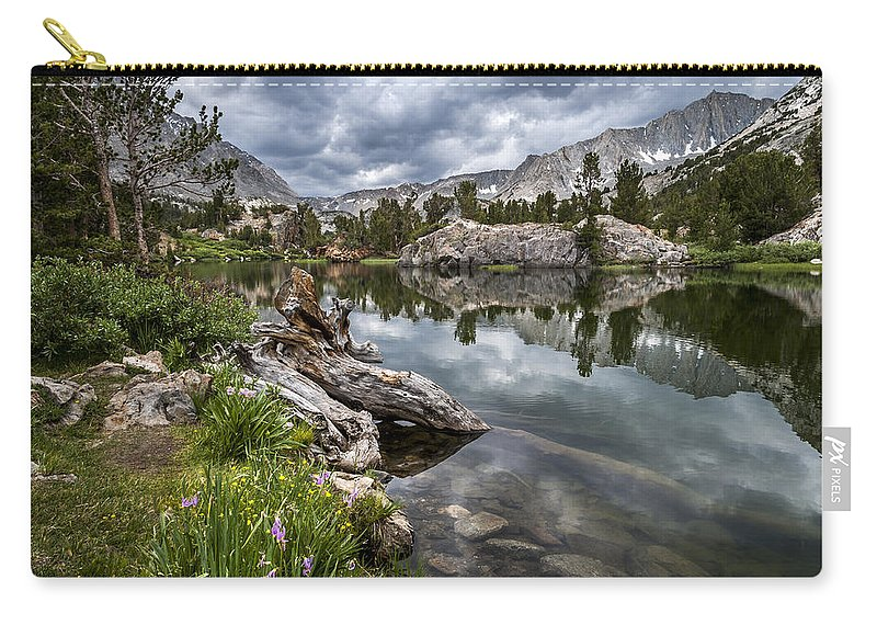 Lake Carry-all Pouch featuring the photograph Long Lake by Cat Connor