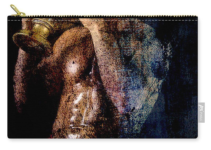 Male Nude Carry-all Pouch featuring the photograph Long Time Ago by Mark Ashkenazi