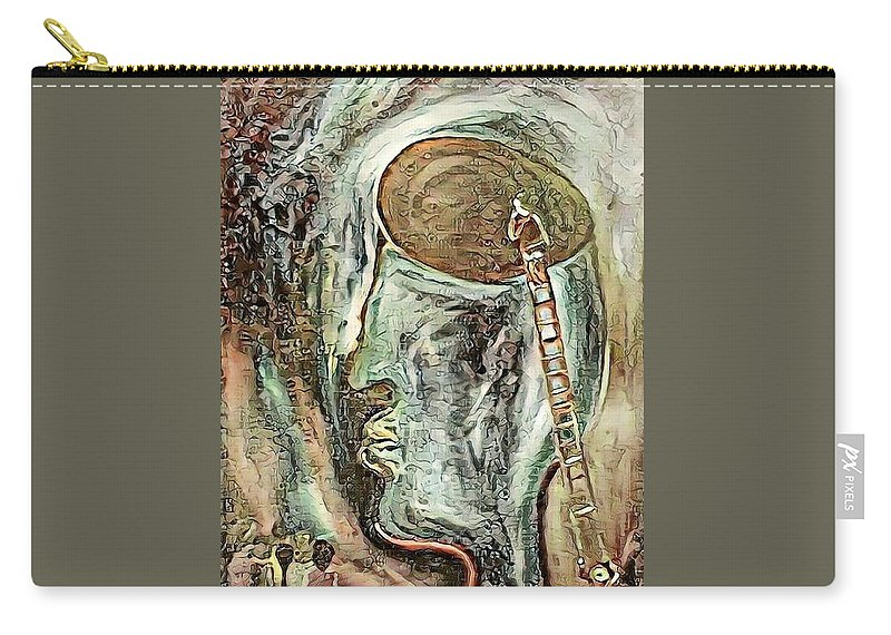 Expressionism Carry-all Pouch featuring the painting Looking For Hope In A Hopeless Place by Tanya Martin