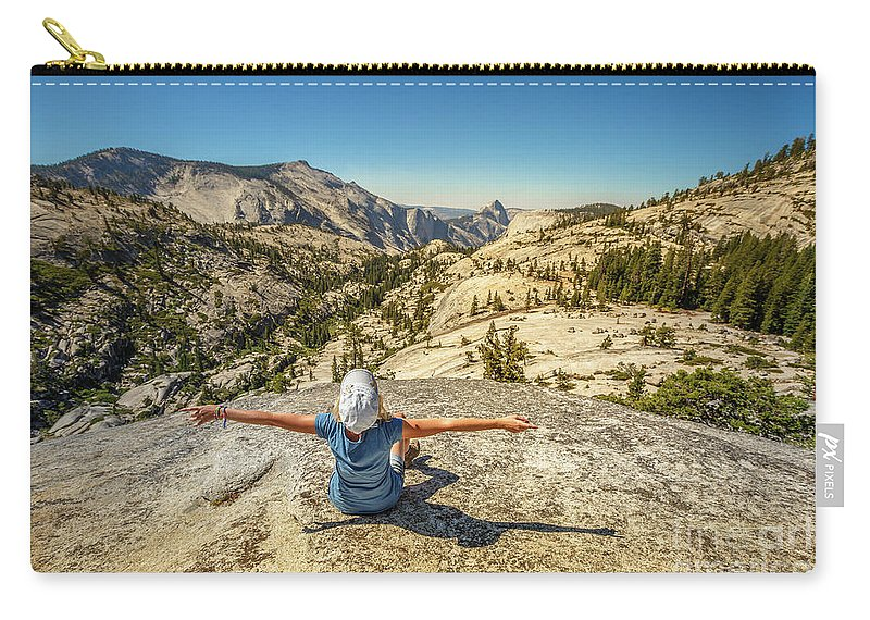 Yosemite Carry-all Pouch featuring the photograph Looking Half Dome by Benny Marty