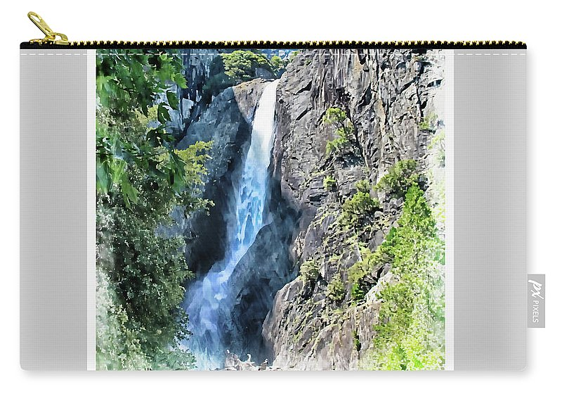 Yosemite Carry-all Pouch featuring the photograph Lower Yosemite Falls by Margie Wildblood