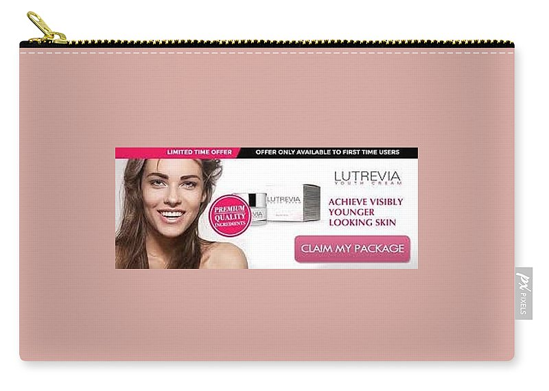 Lutrevia Cream Carry-all Pouch featuring the photograph Lutrevia Cream by Lutrevia Cream