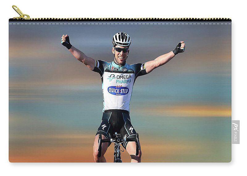 Mark Cavendish Carry-all Pouch featuring the photograph Mark Cavendish 3 by Smart Aviation