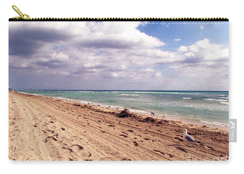 Beaches Carry-all Pouch featuring the photograph Miami Beach by Amanda Barcon