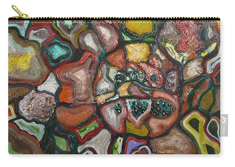 Abstract Paintings Paintings Abstract Art Paintings Carry-all Pouch featuring the painting Mindscape by Seon-Jeong Kim